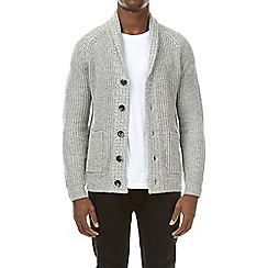 Burton - Grey cable knit cardigan