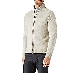 Burton - Oatmeal funnel neck zip through jumper