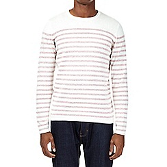 Burton - Red slub crew jumper