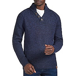 Burton - Navy twist funnel neck jumper