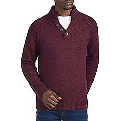 Burton - Red twist funnel neck jumper