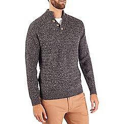 Burton - Charcoal button neck jumper