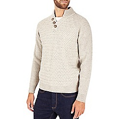 Burton - Oatmeal button neck jumper