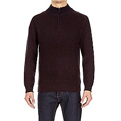 Burton - Burgundy zip jumper