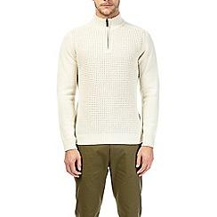 Burton - White zip neck jumper