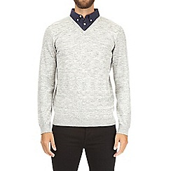 Burton - Grey shirt knitted jumper