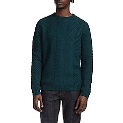 Burton - Green nep chevron jumper