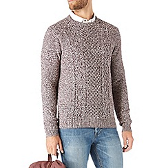Burton - Burgundy twist cable jumper