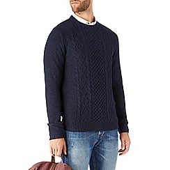 Burton - Navy twist cable jumper