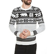 White & Black Polar Bear Christmas Jumper