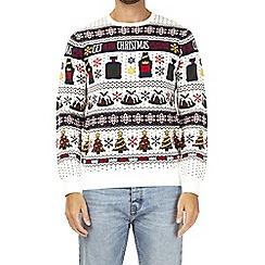 Burton - Cream Christmas spirit novelty jumper