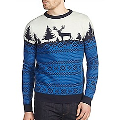 Burton - Blue Fair Isle inspired Christmas jumper