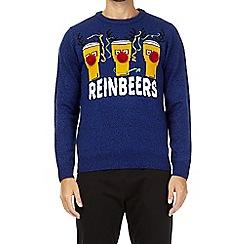 Burton - Blue reindeers novelty Christmas jumper
