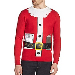 Burton - Red 'Bad Santa' Christmas jumper