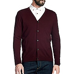 Burton - Burgundy knitted cardigan