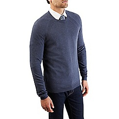 Burton - Denim blue crew neck jumper