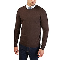 Burton - Chocolate brown crew neck jumper