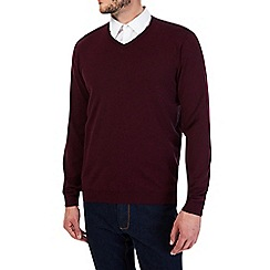 Burton - Burgundy v neck jumper