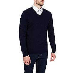 Burton - Navy v neck jumper