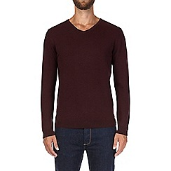 Burton - Burgundy V-neck jumper