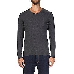 Burton - Charcoal V-neck jumper