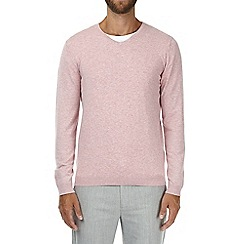 Burton - Pink v-neck knitted jumper
