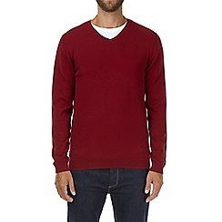 Burton - Red v-neck jumper