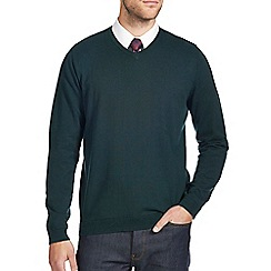 Burton - Green v-neck jumper