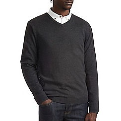 Burton - Charcoal v-neck jumper