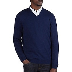 Burton - Navy v-neck jumper