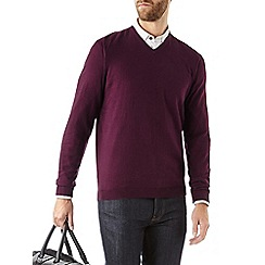 Burton - Purple v-neck jumper