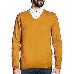 Burton - Mustard v-neck jumper