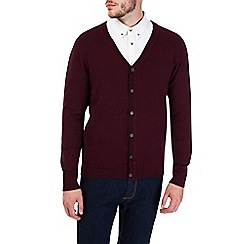 Burton - Burgundy cardigan jumper