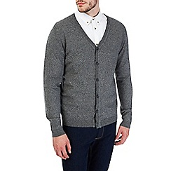 Burton - Grey textured cardigan jumper