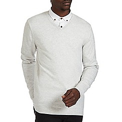 Burton - Light grey v-neck jumper
