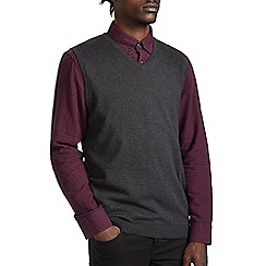 Burton - Charcoal v-neck tank jumper