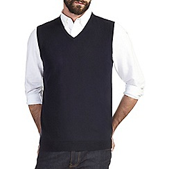 Burton - Navy v-neck tank jumper