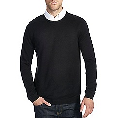Burton - Black ripple crew neck jumper
