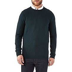 Burton - Dark green ripple crew jumper