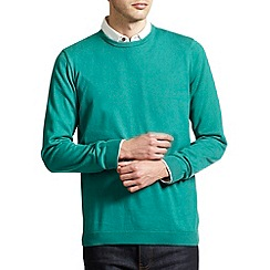 Burton - Bright green crew neck jumper