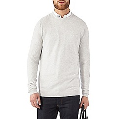 Burton - Light grey ripple crew jumper