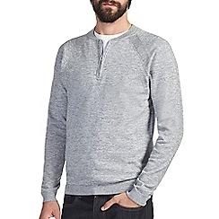 Burton - Grey texture half zip jumper