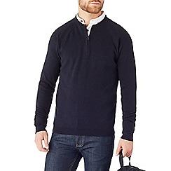 Burton - Navy half zip jumper
