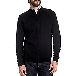 Burton - Black funnel neck zip jumper