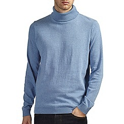 Burton - Blue roll neck jumper