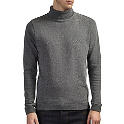 Burton - Charcoal roll neck jumper