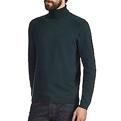 Burton - Dark green roll neck jumper