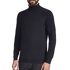 Burton - Navy roll neck jumper