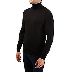 Burton - Black roll neck knitted jumper