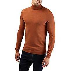 Burton - Brick red roll neck knitted jumper